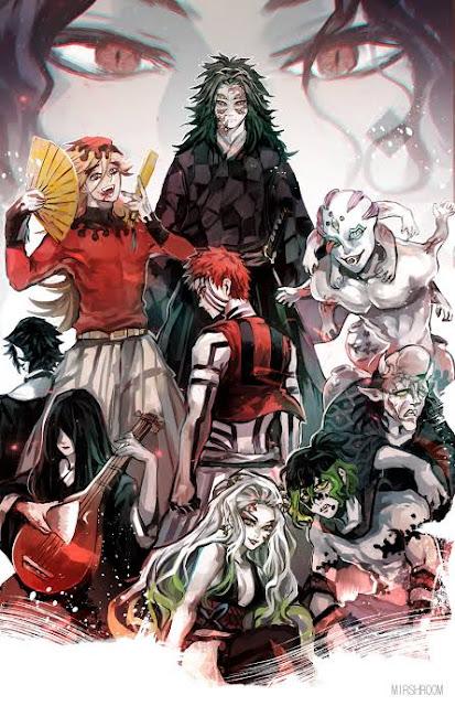 The Twelve Kizuki [Blood Demon Moons] From The Demon Slayer