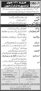 JOBS IN NLIC FOR HTV TRANSPORT   DRIVER