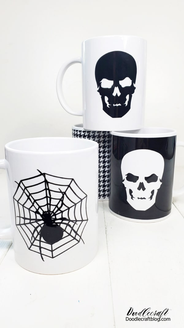 Halloween is just a month away! I love the shift of seasons...from the heat of Summer to the bundling up, cool breezes and falling leaves of Autumn. I love the smell in the air--it just smells like Halloween!  Incidentally, I love mugs too, so Halloween mugs were the perfect addition to the hot chocolate bar. Let me show you how easy it is to make mugs using Cricut Infusible Ink Transfers and the Cricut Mug Press.