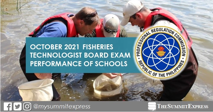 October 2021 Fisheries Technologist board exam result: performance of schools