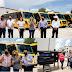 Mantiene Gobernadora trabajo intenso en municipios de la sierra, entrega transportes escolares y obras