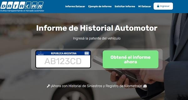 Informes de Datacar de Historial Automotor