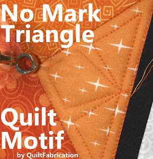 ruler quilting-longarm quilting-triangle quilt motif-easy quilt motif