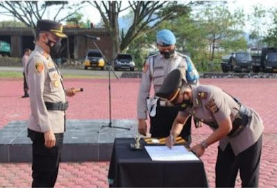 Kapolres Aceh Besar Pimpin Sertijab Kasat dan Pengukuhan Jabatan Kabaglog
