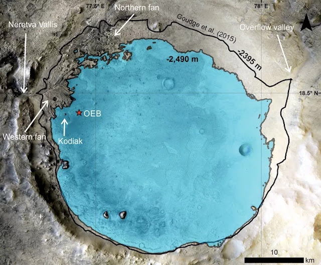Rover images confirm Jezero crater is an ancient Martian lake