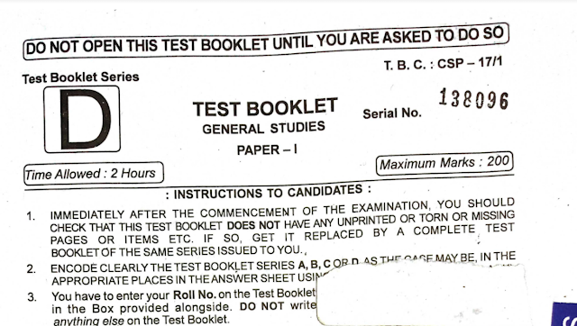 OPSC previous year question papers