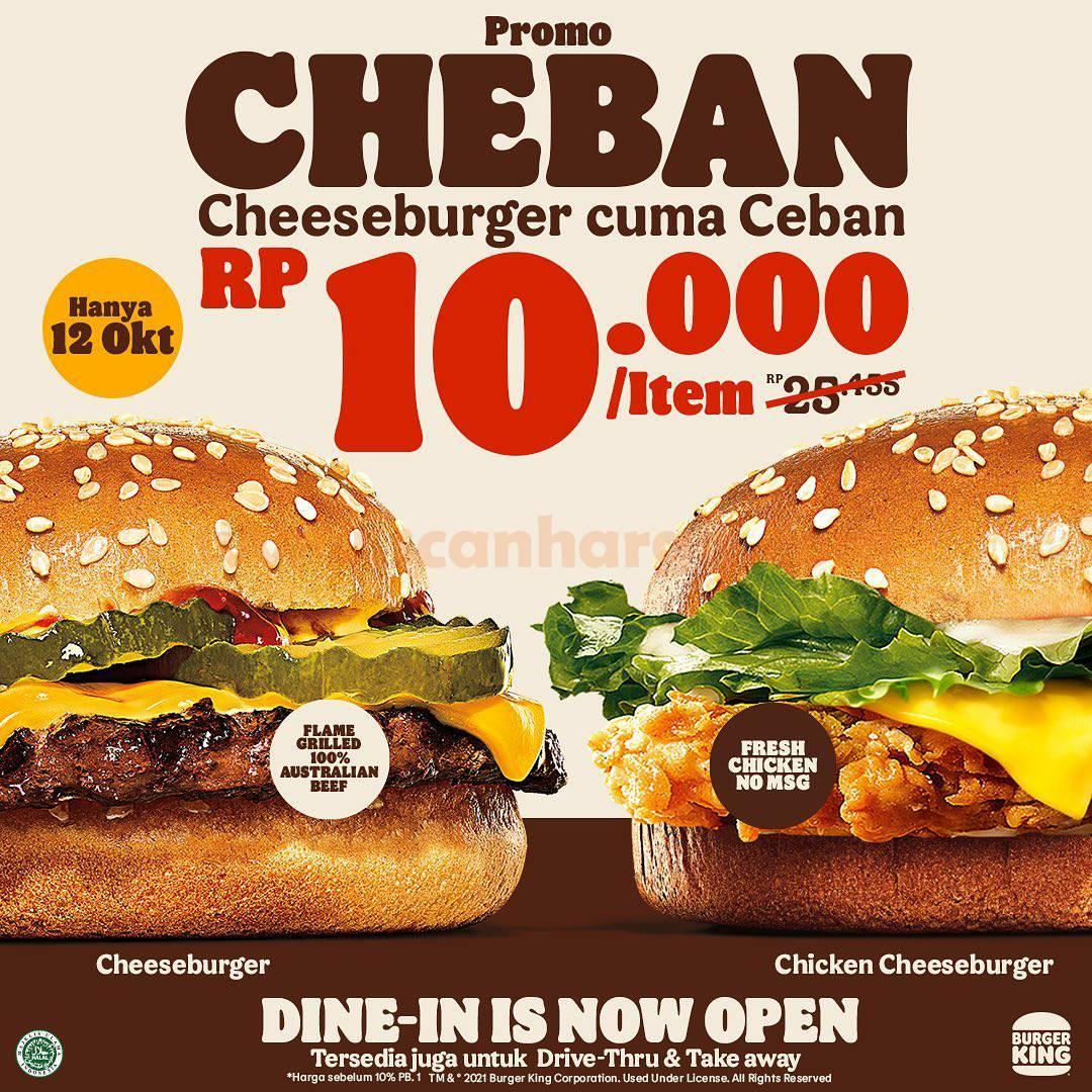 BURGER KING Promo CHEBAN - Cheeseburger cuma Ceban per item