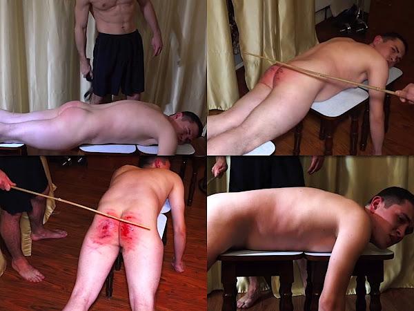 #RusStraightGuys - Boy spanking by belt and cane – Miroslav 18