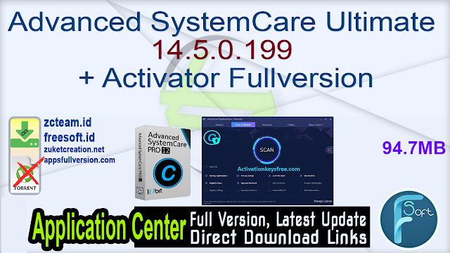 Advanced SystemCare Ultimate 14.5.0.199 + Activator Fullversion