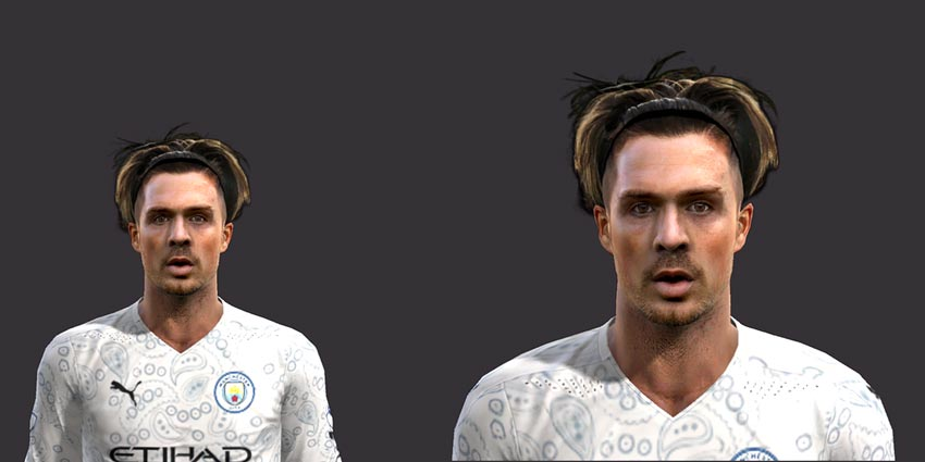 Jack Grealish Face 2021 For PES 2013