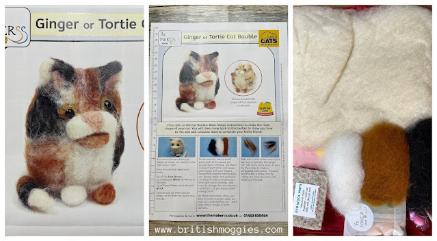 cats protection make a christmas bauble felting kit