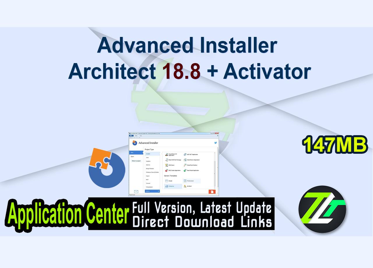 Advanced Installer Architect 18.8 + Activator