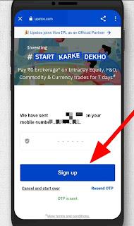 Upstox Account Opening Process, sign up upstox