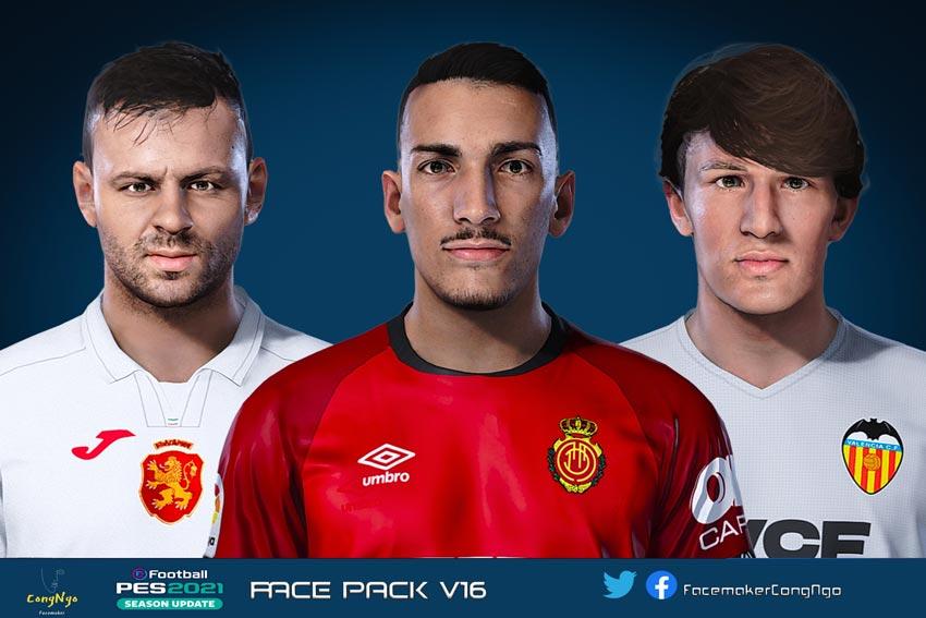 Facepack V16 2021 For eFootball PES 2021