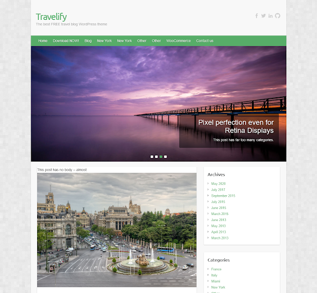 Travelify Best Free WordPress Themes For Blogs 2021