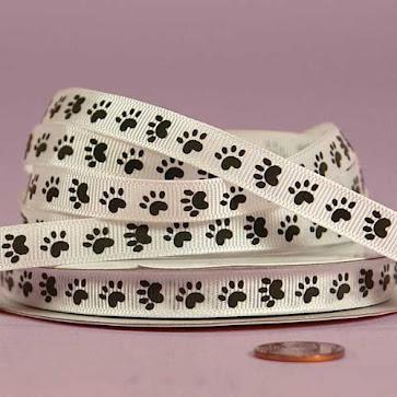 Cat Foot Grosgrain Ribbons for Accessories