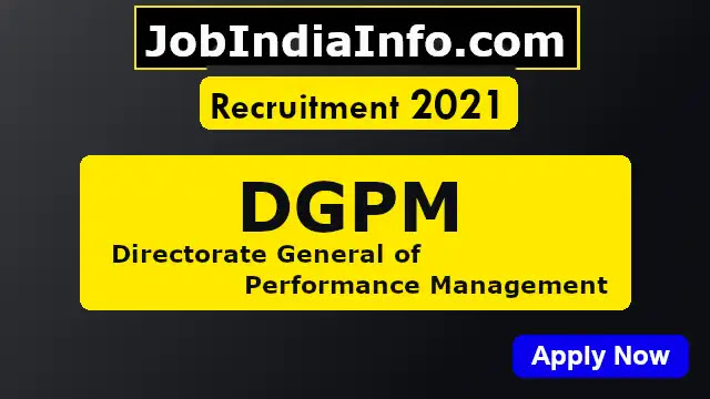 DGPM Sport Quota Recruitment 2021, 24 Posts in MTS, Tax Assistant, Steno  & more