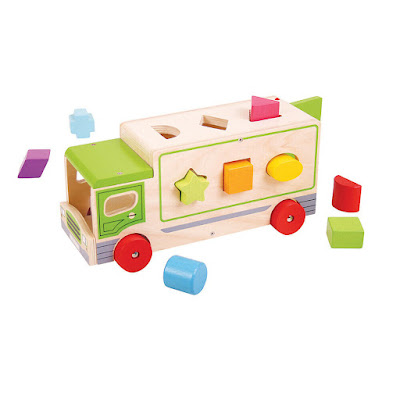Bigjigs Toys Educational Wooden Shape Sorter Sorting Lorry Educational Learn