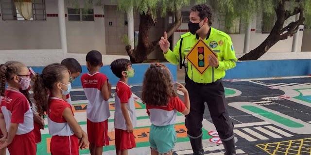 Senador Canedo desenvolve projeto de educação no trânsito nas escolas