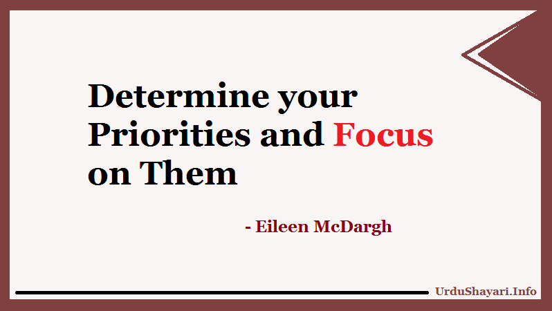 Quotes on Priorities and Focus, Good Morning to You, Track your life back