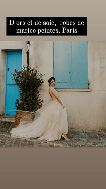 Robe de mariée Botanica Gold D'ors et de Soie