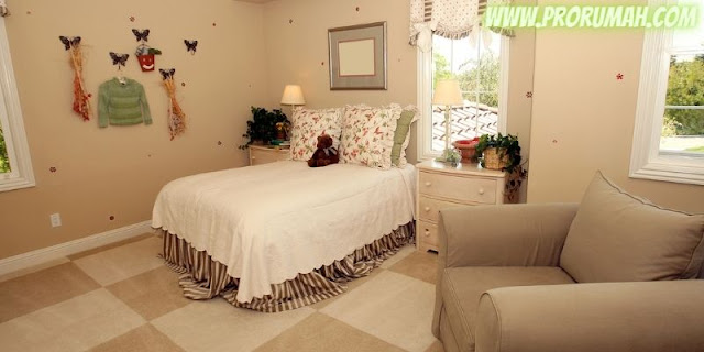 desain kamar anak cewek - nuansa warna krem