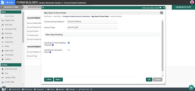 Configure Cardano Account Load Binder - Page 2