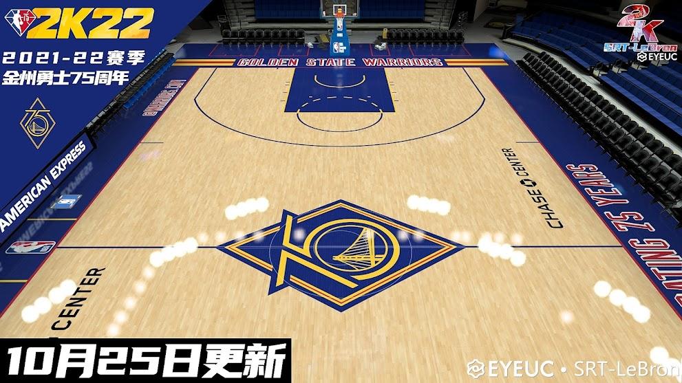 NBA 2K22 [8K] 2021-22 Golden State Warriors 75th Anniversary Court Updated V10.25 by Srt-lebron
