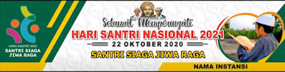 banner spanduk hari santri nasional 2021 cdr - kanalmu