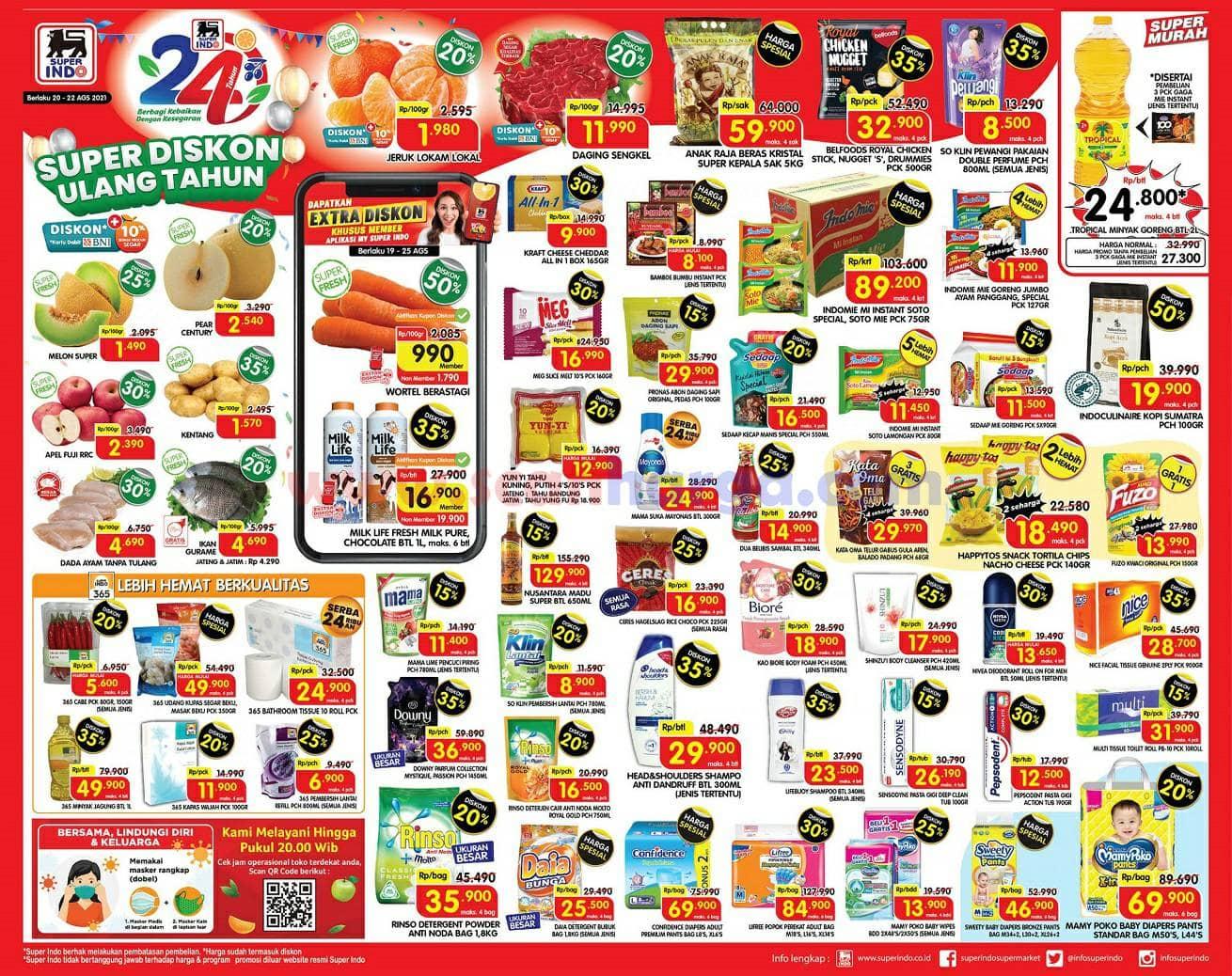 Katalog Promo Superindo Weekend Terbaru 20 - 22 Agustus 2021
