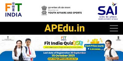 Fit India quize competetions registration link details.