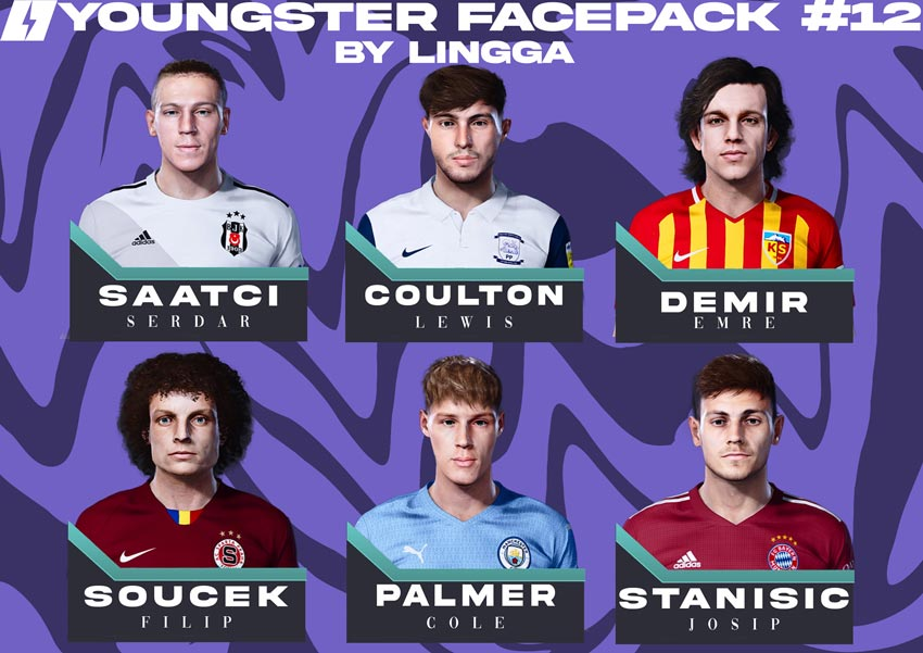 Youngster Facepack V12 2021 For eFootball PES 2021