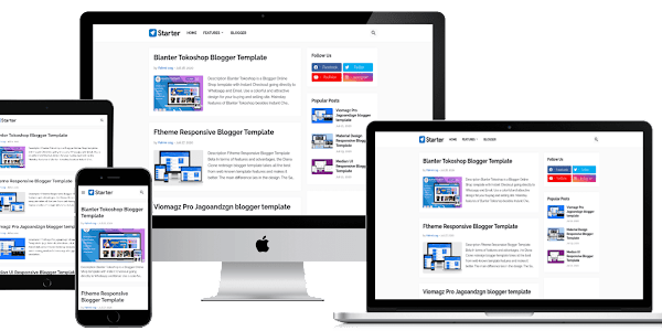 Free Download Starter Pro Blogger Template