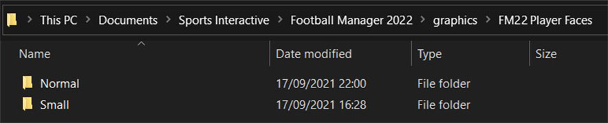 Football Manager 2022 Player Faces Folder