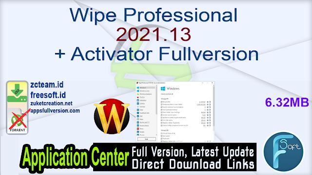 Wipe Professional 2021.13 + Activator Fullversion