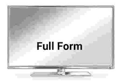 TV Ka Full Form.