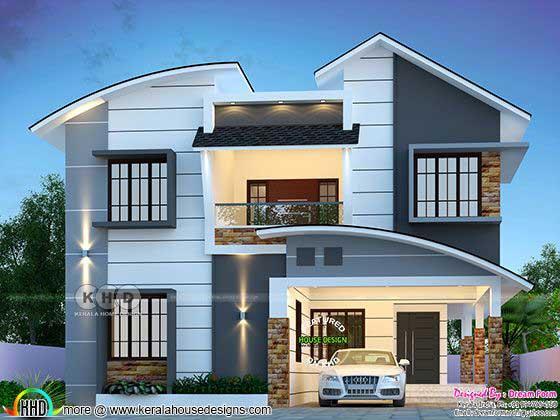 mixed roof modern home design