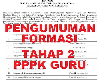 PENGUMUMAN TAHAP 2 ! Berikut Jadwal Tahapan Pelaksanaan Seleksi ASN PPPK Guru Tahun 2021