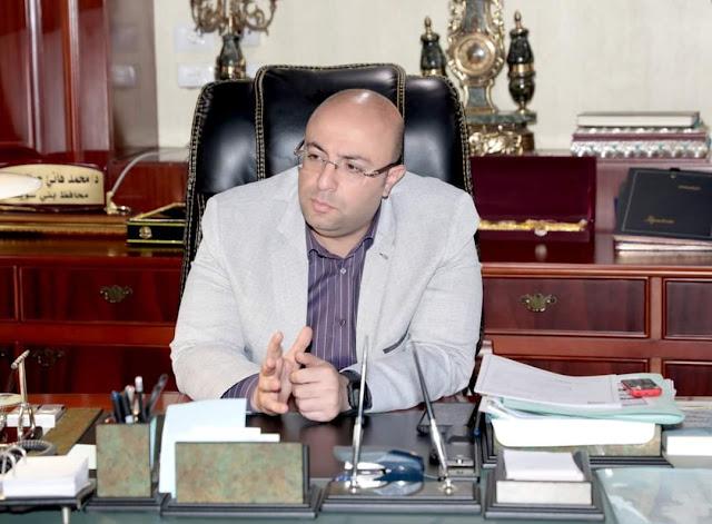 محافظ بني سويف يناقش مع وكيل وزارة الصحة الإجراءات المنفذة لتطعيم العاملين بالجهاز الإداري ضد فيروس كورونا