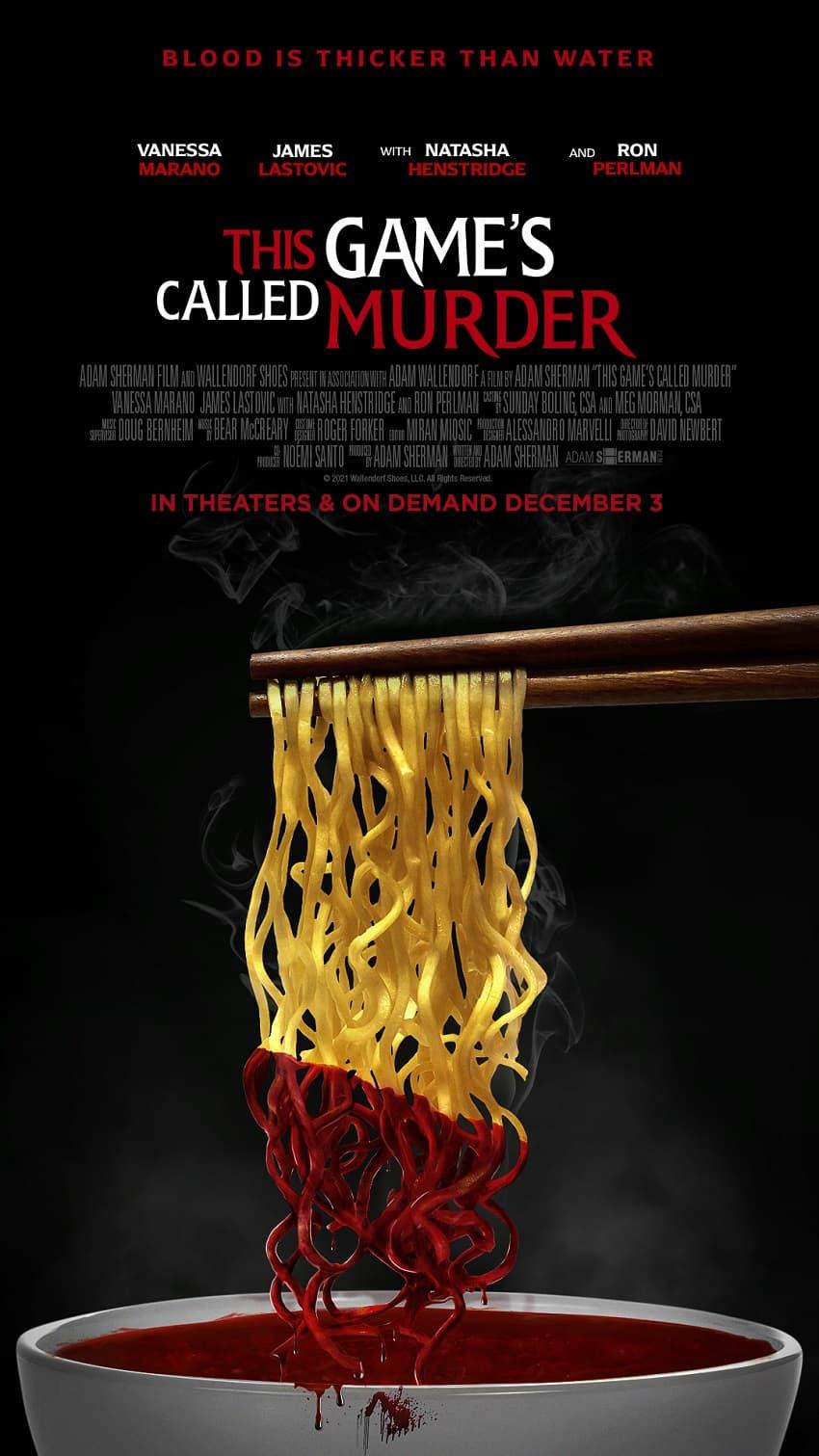 Дизайнер Рон Перлман сходит с ума в трейлере комедийного хоррора This Game's Called Murder - Постер