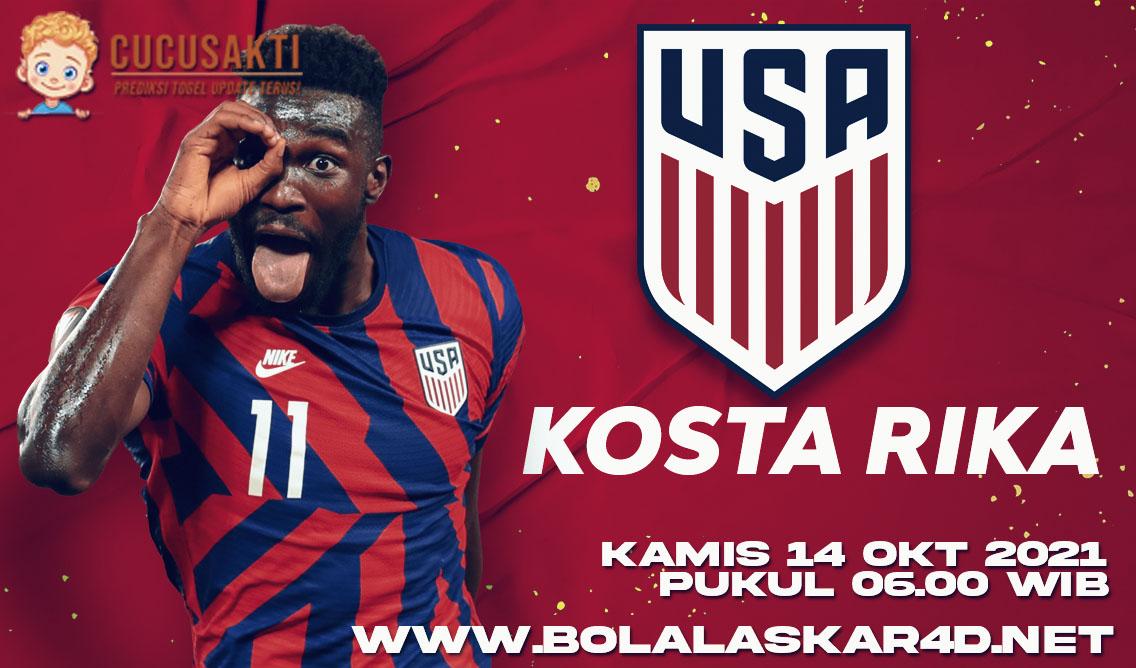 Prediksi Bola Amerika Serikat vs Kosta Rika Kamis 14 Oktober 2021