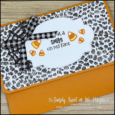 Fun treat without the sweet...pumpkin facial mask pouch with the Cute Halloween suite!