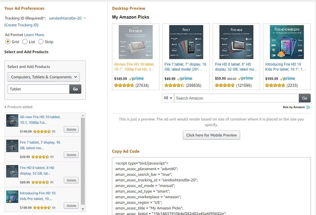 Amazon Affiliate Product
