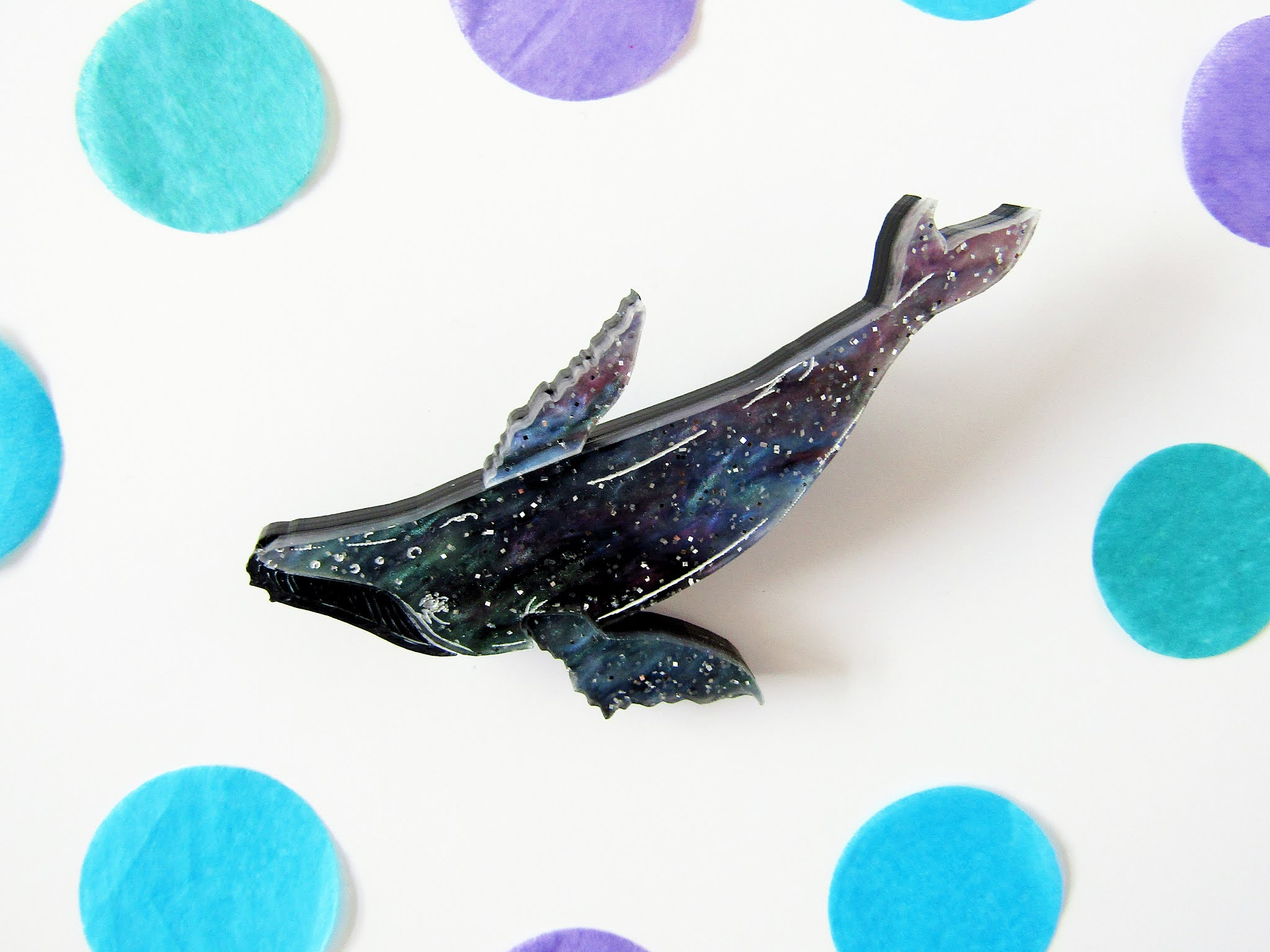 Kimchi and Coconut Galaxy Whale Brooch photo.