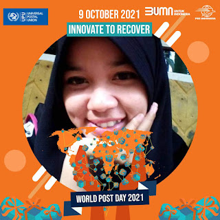 Twibbon atau Bingkai Foto Hari Pos Sedunia (World Post Day), 9 Oktober 2021