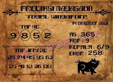 Pred Nagasaon SGP Kamis 14 Oktober 2021