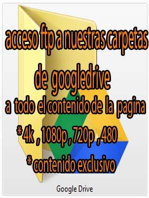 acceso ftp a nuestras carpetas de googledrive