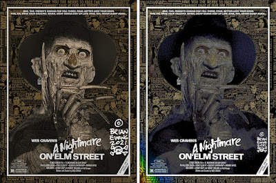 """New York Comic Con 2021 Exclusive The Joker, Star Wars: Empire Strikes Back """"Some Like It Hoth"""" & A Nightmare on Elm Street Variant Screen Prints by Brian Ewing"""