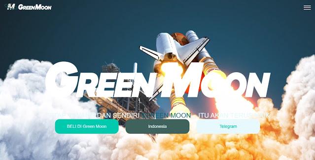 Screenshot Website GreenMoon (GRM)