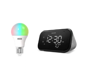$17, Select Walmart Stores: Lenovo Smart Clock Essential + Smart Color Bulb